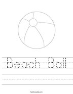Beach Ball Handwriting Sheet