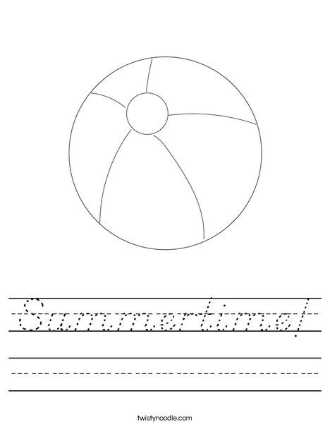 Beach Ball Worksheet