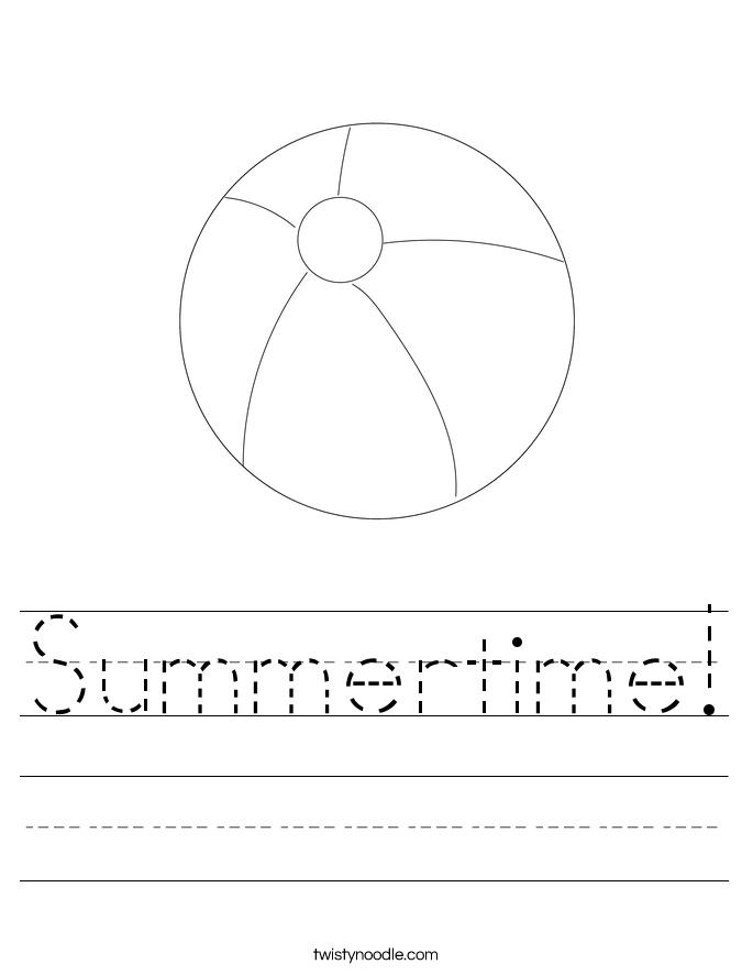 Summertime! Worksheet