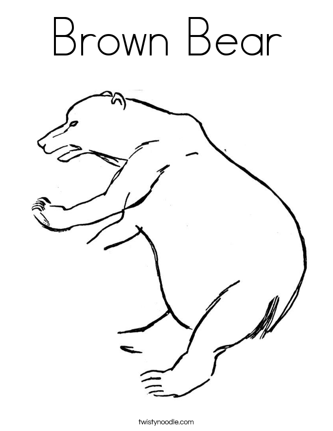 Brown Bear Coloring Page Twisty