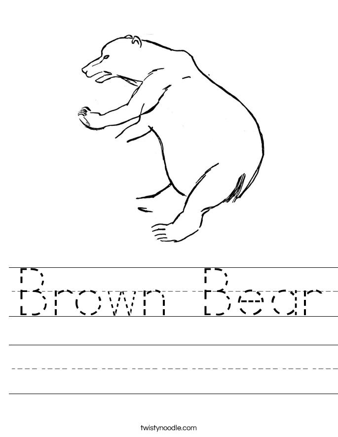 Brown Bear Worksheet Twisty Noodle