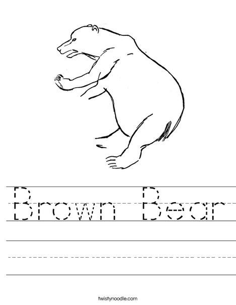 Bear Climbing Worksheet