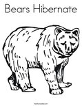 Bears HibernateColoring Page