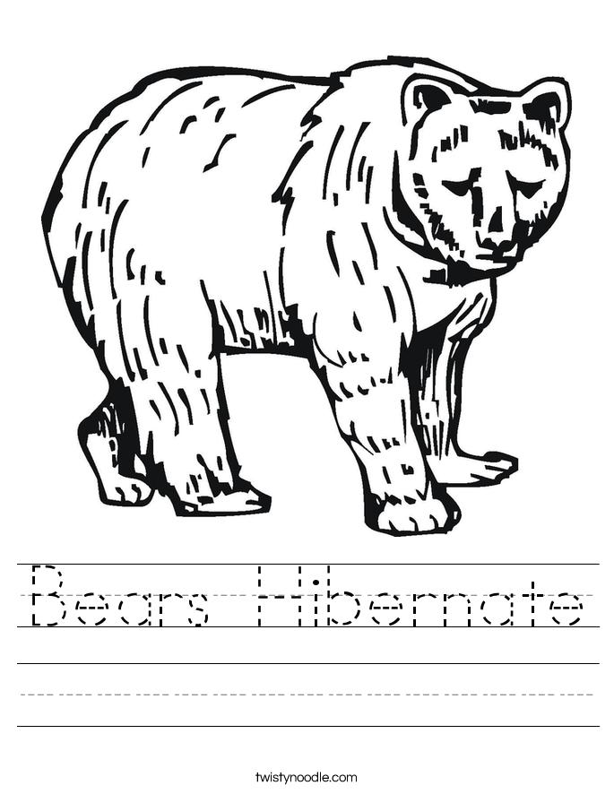 bears hibernate worksheet twisty noodle. Black Bedroom Furniture Sets. Home Design Ideas