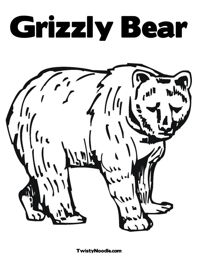 Alfa img - Showing u0026gt; You Can Color Picture of Grizzly Bears