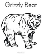 A Grizzly Bear Coloring Page Is Exciting! | 186x144