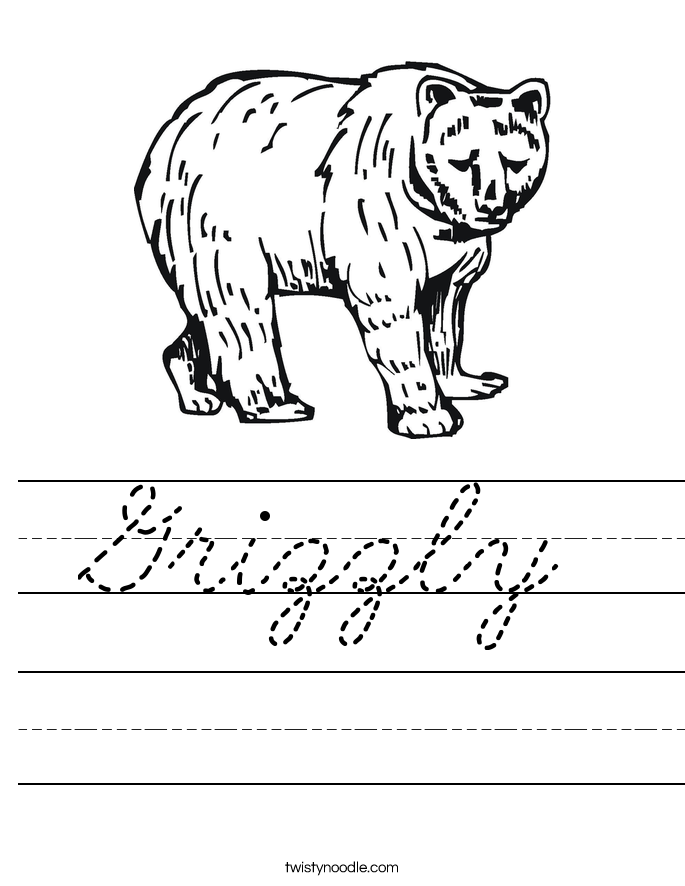 Grizzly Worksheet