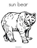 sun bearColoring Page