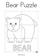 Bear Puzzle Coloring Page