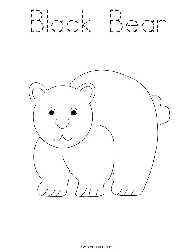 Black Bear Coloring Page