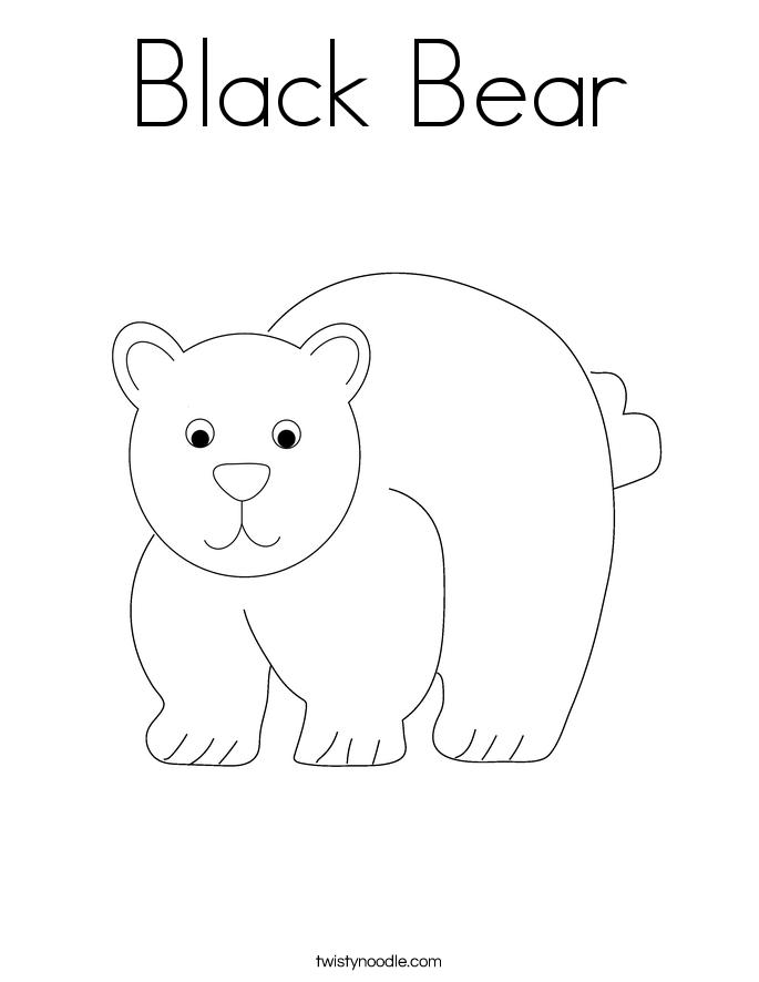Black Bear Coloring Page Twisty Noodle