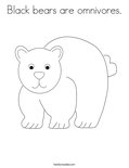 Black bears are omnivores.Coloring Page