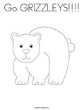 Go GRIZZLEYS!!!!Coloring Page