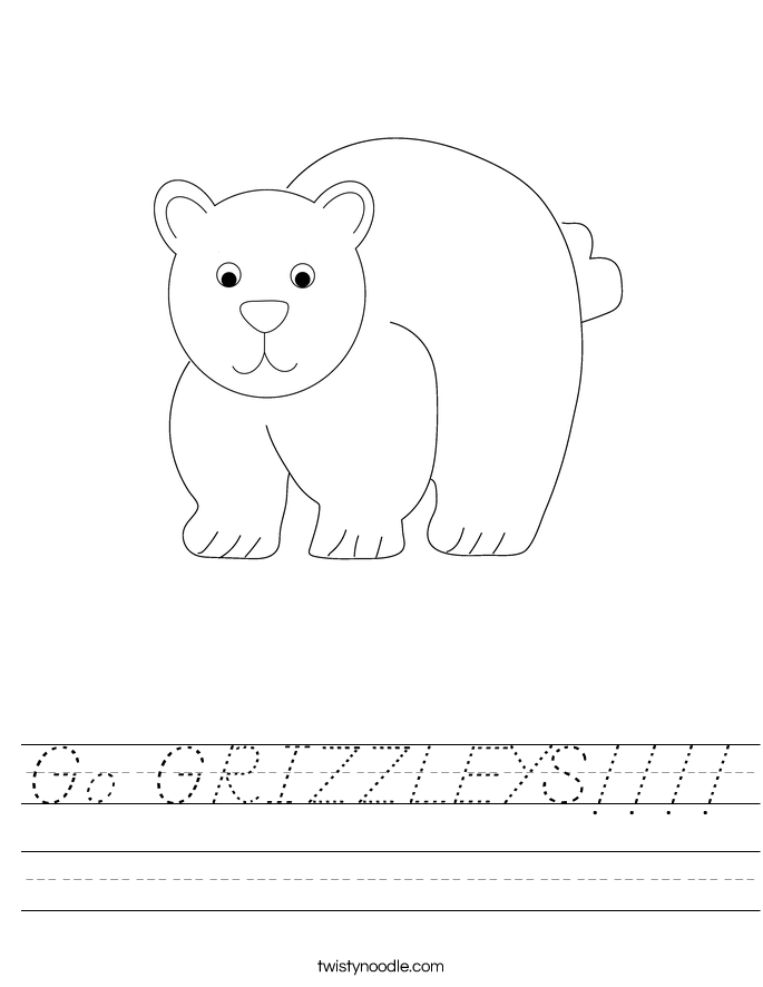 Go GRIZZLEYS!!!! Worksheet