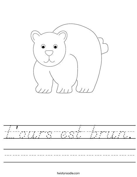 Bear Worksheet