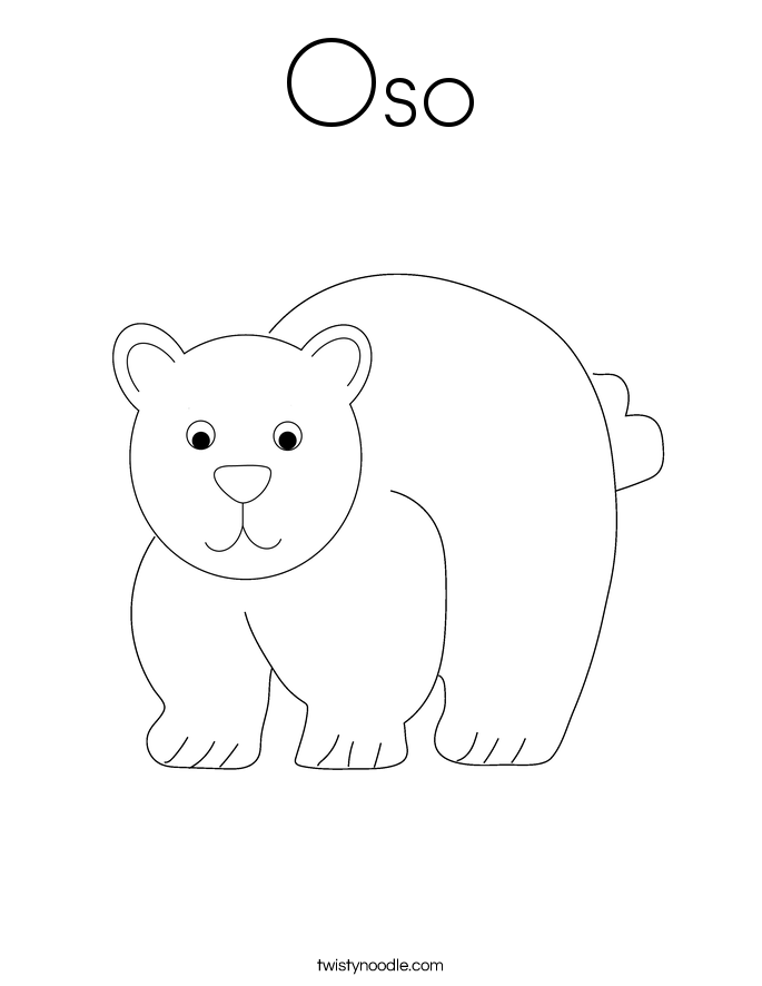Oso Coloring Page