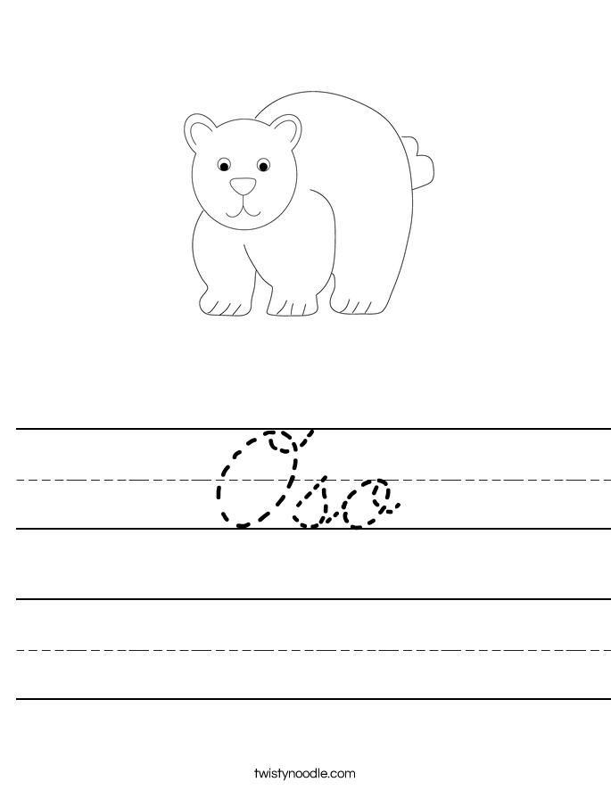 Oso Worksheet