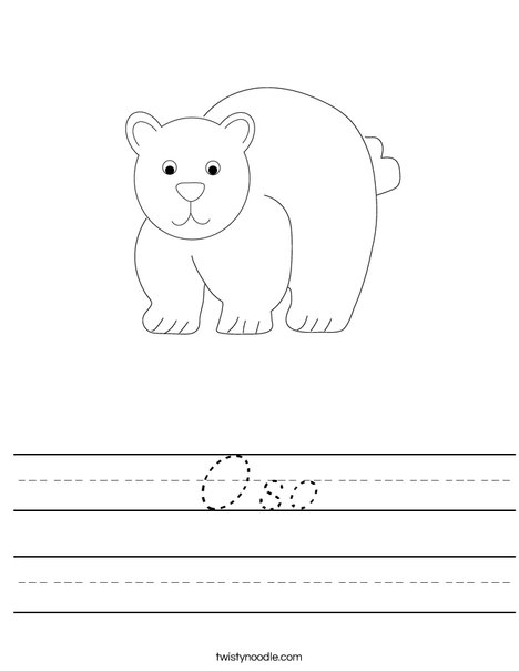 Bear Worksheet