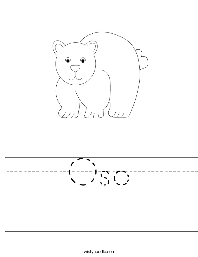 Oso Worksheet