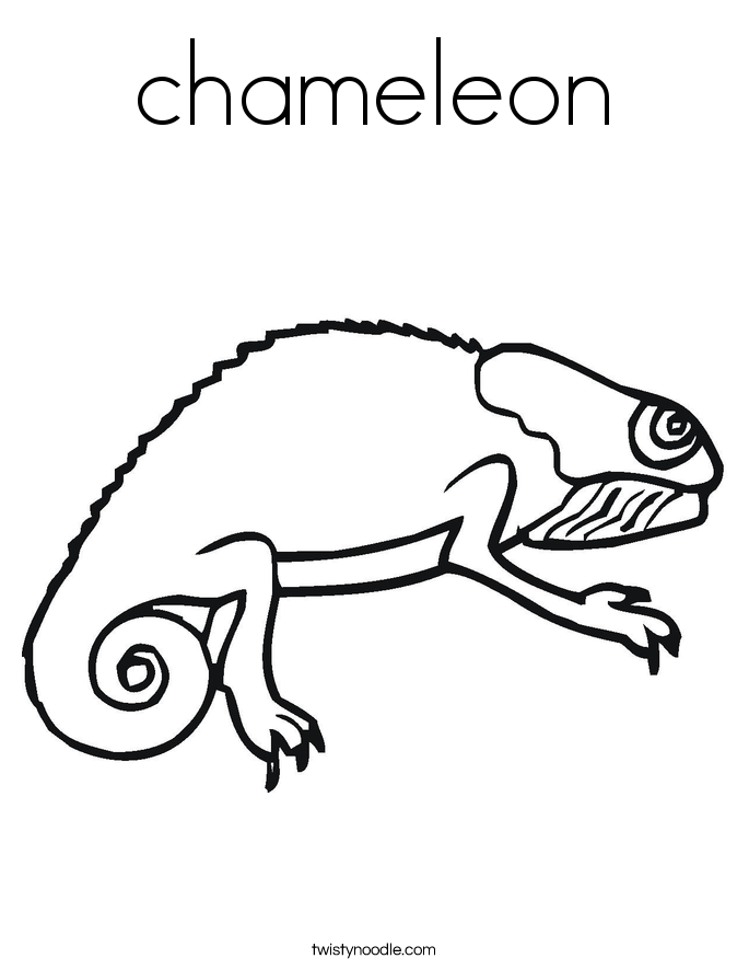 chameleon Coloring Page - Twisty Noodle