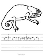 chameleon Handwriting Sheet