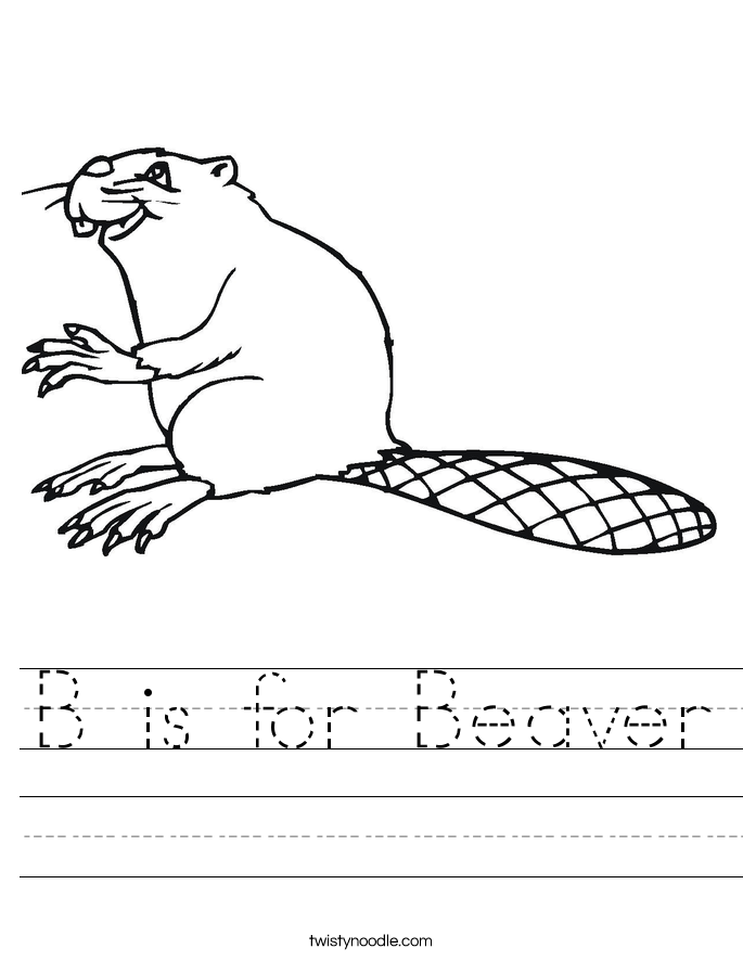 B is for Beaver Worksheet