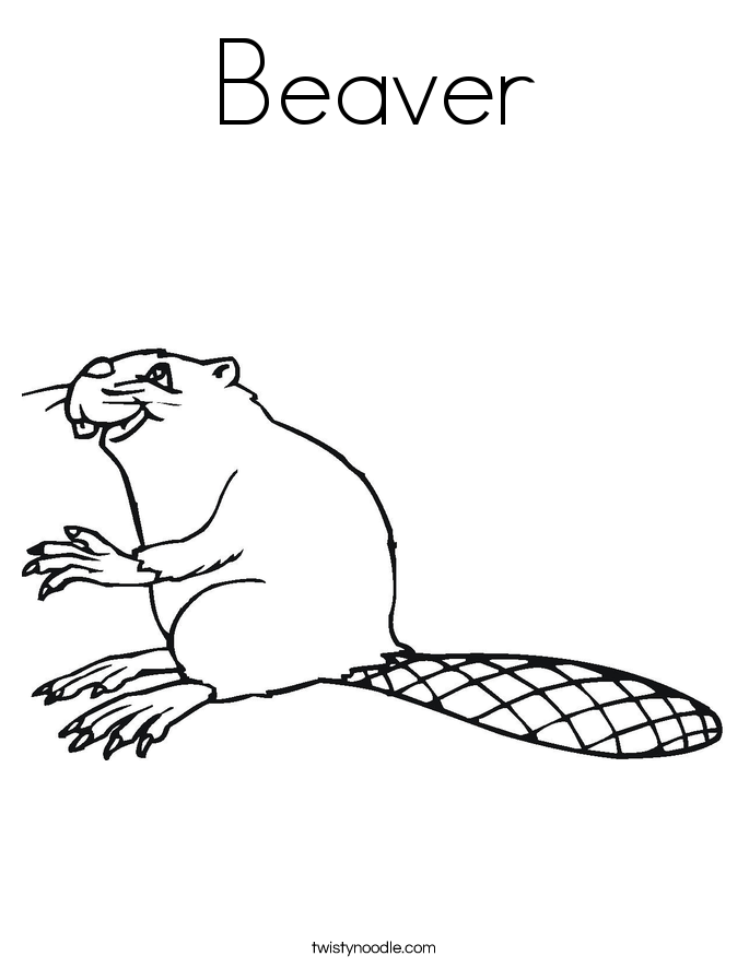 Beaver Coloring Page