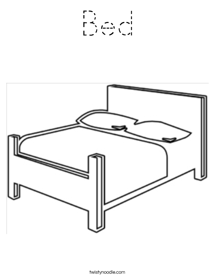 Bed Coloring Page