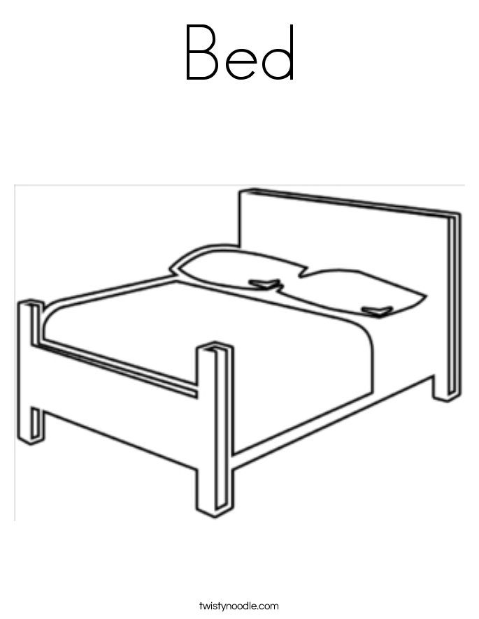 beds coloring pages - photo#9