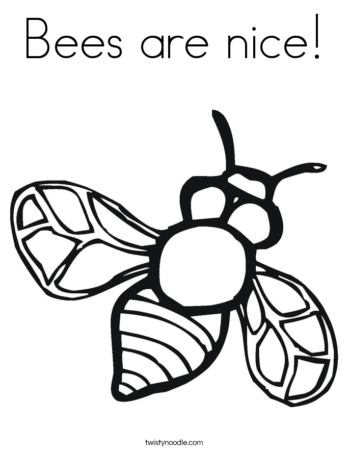 Bees are nice! Coloring Page