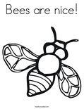 Bees are nice!Coloring Page