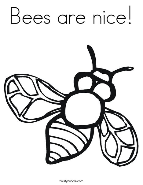bees are nice coloring page twisty noodle