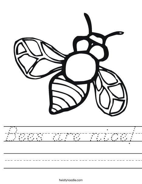 Bumble Bee Worksheet