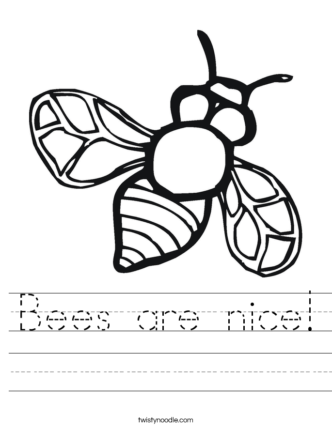 Bees are nice! Worksheet