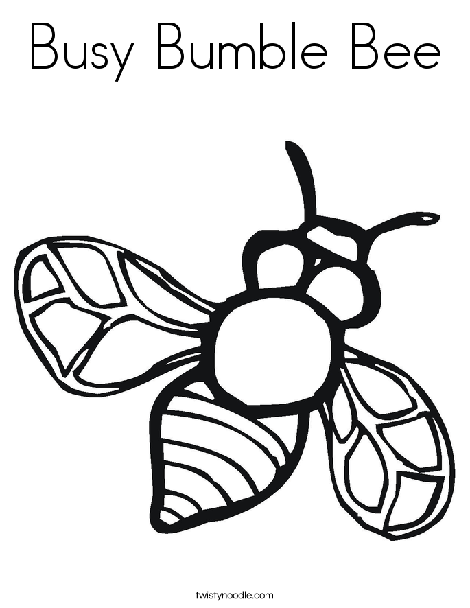 Busy Bumble Bee Coloring Page Twisty Noodle