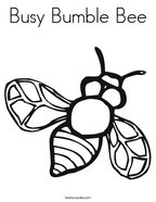 Busy Bumble Bee Coloring Page