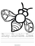 Busy Bumble Bee Worksheet