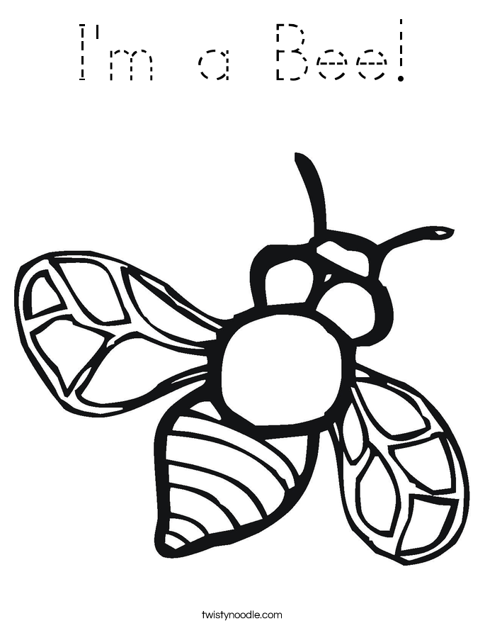 I'm a Bee! Coloring Page