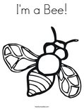 I'm a Bee!Coloring Page