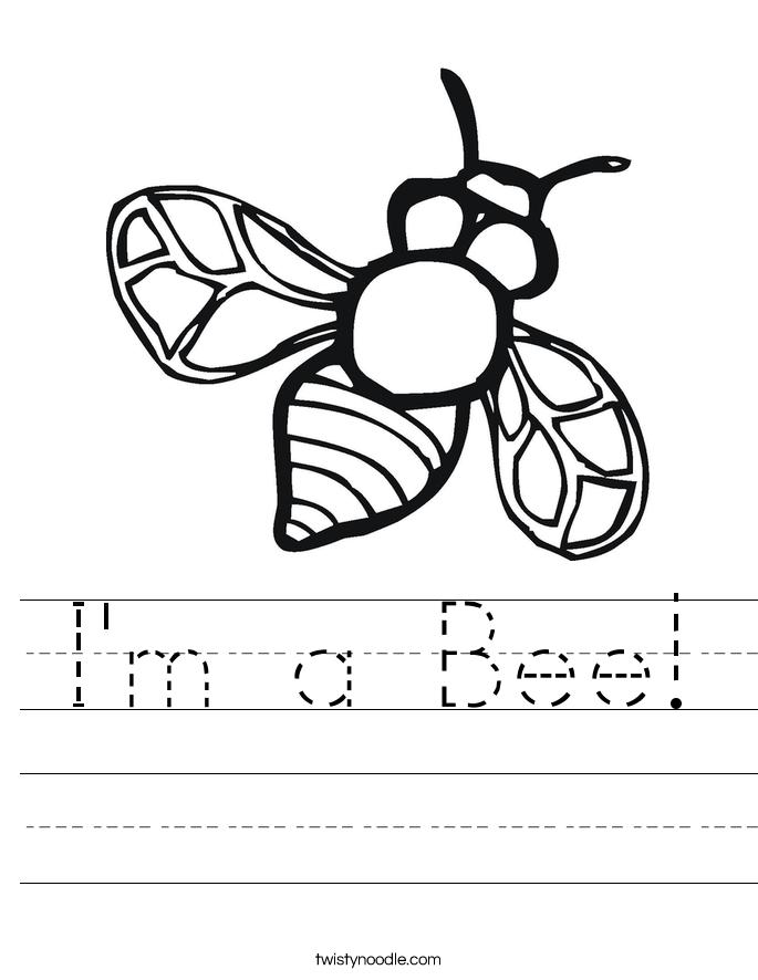 I'm a Bee! Worksheet