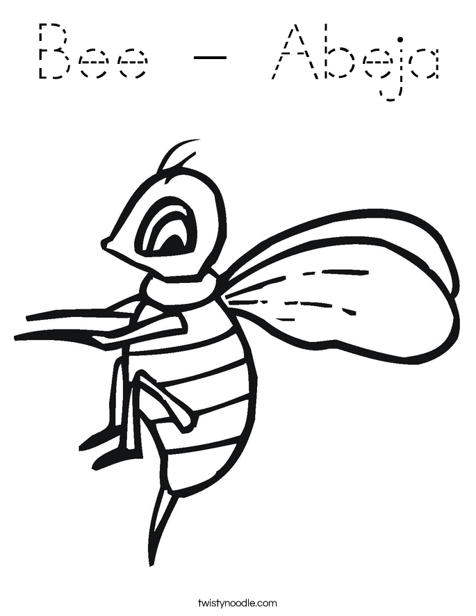 Bee - Abeja Coloring Page