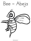 Bee - AbejaColoring Page