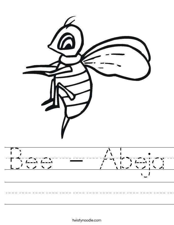 Bee - Abeja Worksheet