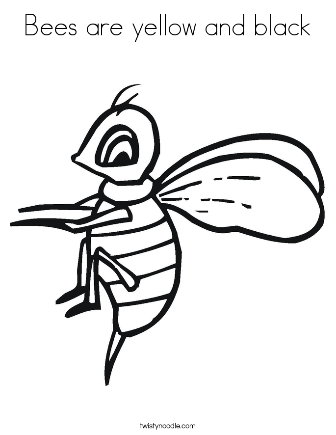 Bees are yellow and black Coloring Page