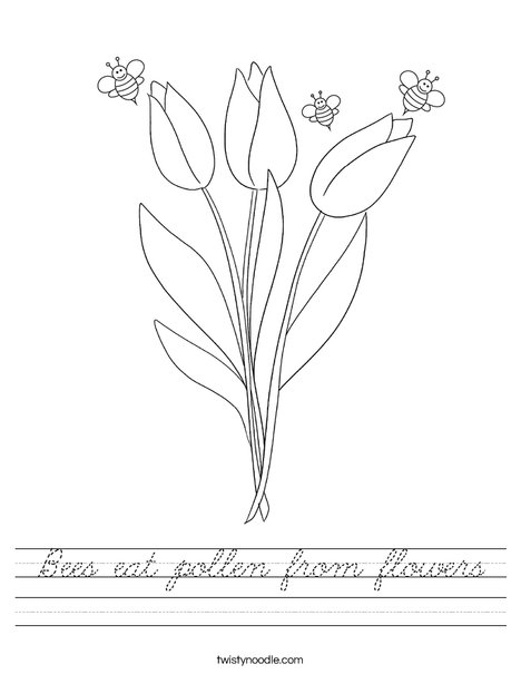 Bee and Flower Worksheet