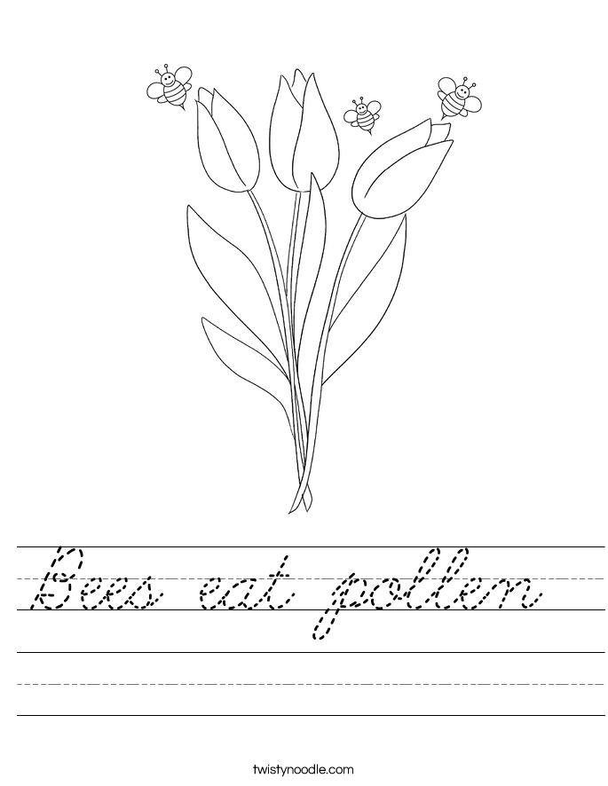 Bees eat pollen  Worksheet