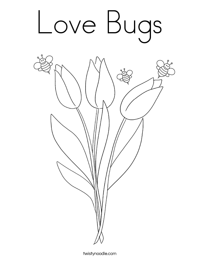 love insect coloring pages - photo#8