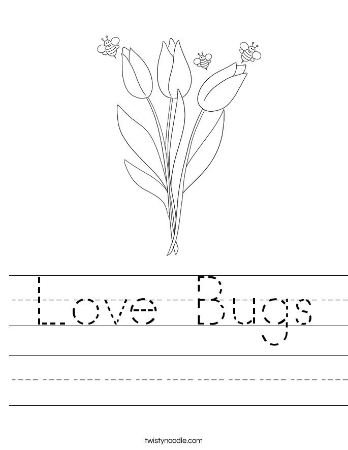 Love Bugs Worksheet