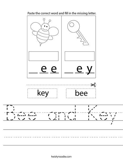 Bee and Key Worksheet