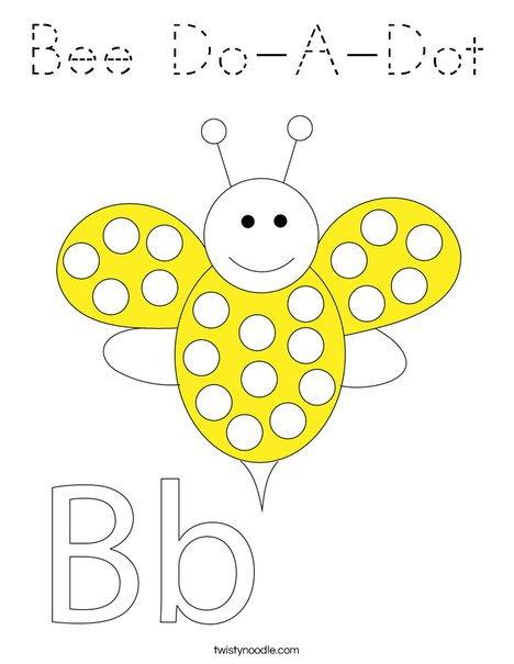 Bee Do-A-Dot Coloring Page